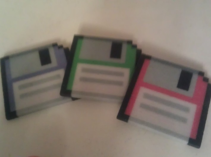 Floppy Disks (3 pack) 3d printed
