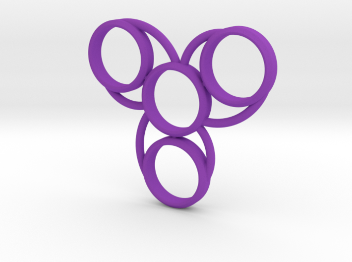 Hand Spinner Quad 3d printed