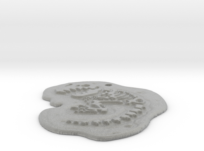 T-rex fossil pendant 3d printed