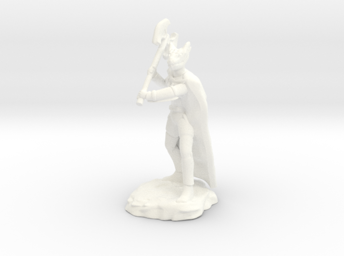 Dragonborn Ranger With Cape and Axe 3d printed