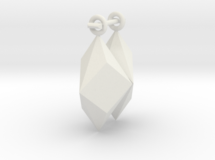 Shard Earrings 3d printed