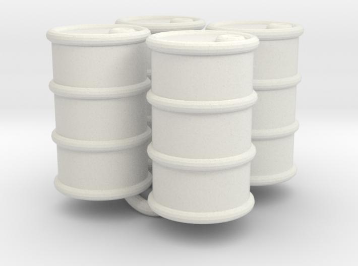 Power Grid Oil Barrels - Set of 4 3d printed