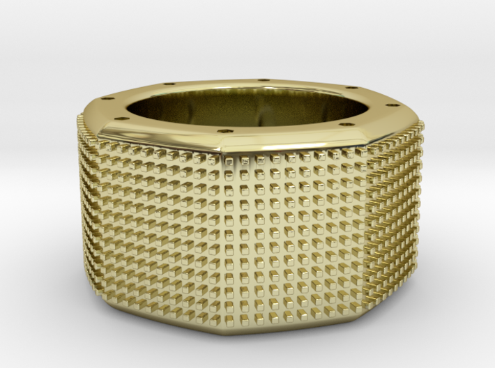 octagon ring with squares Ø18mm 3d printed