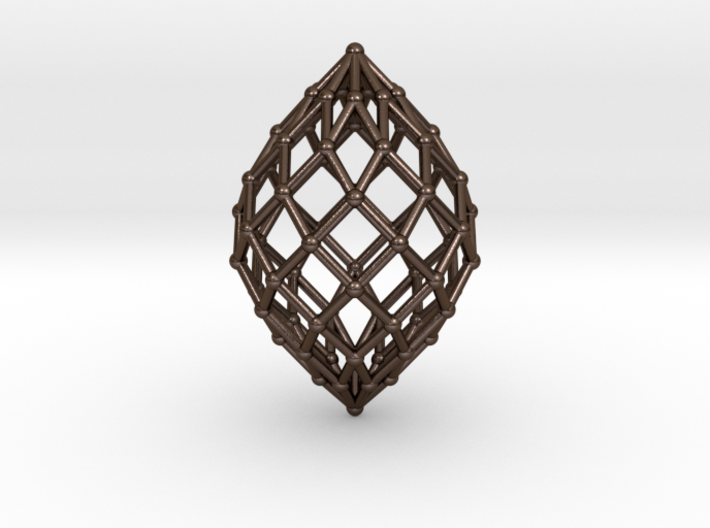 0578 Polar Zonohedron V&E [9] #002 3d printed
