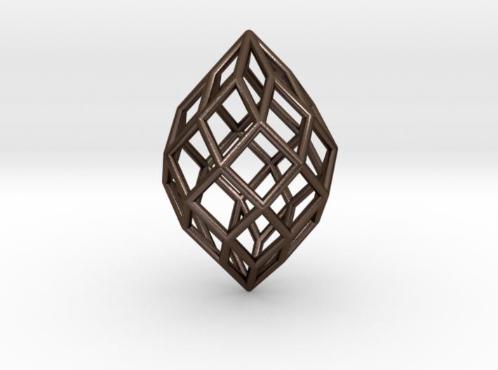 0491 Polar Zonohedron E [7] #001 3d printed