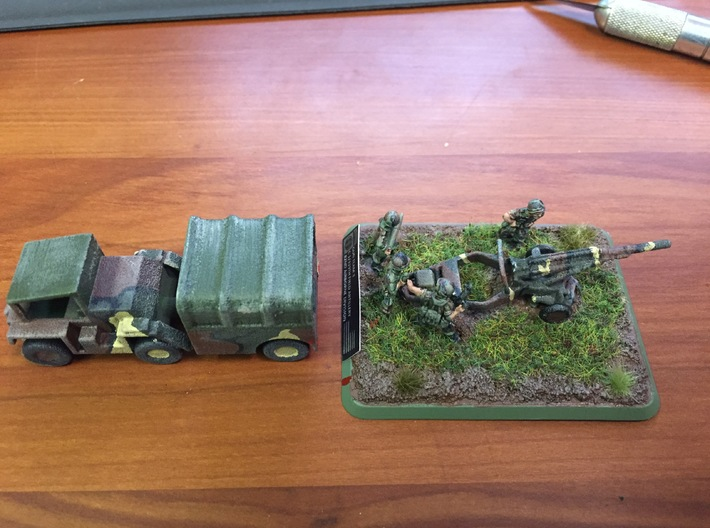 1/100 Scale M102 105mm Howitzer 3d printed Thank you DDAYPARA