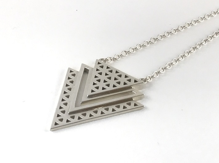 Vértice Tiered Pendant 3d printed