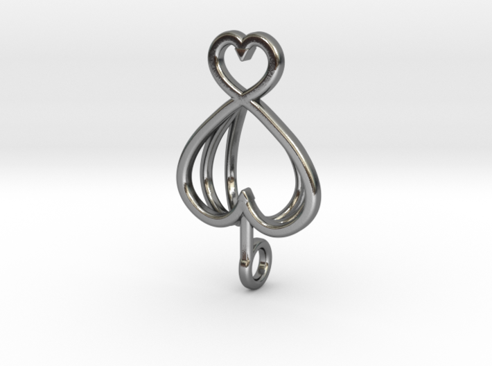 Heart As Open Book Pendant 3d printed