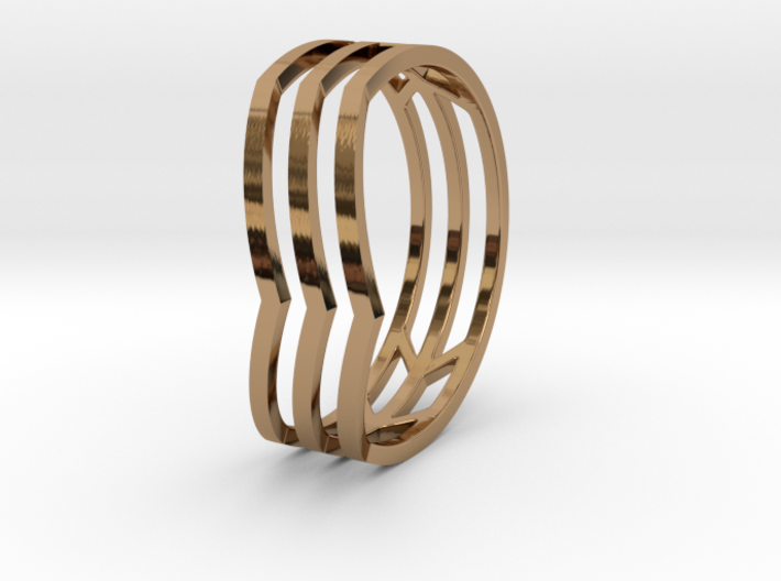 Chevrons Ring 3d printed