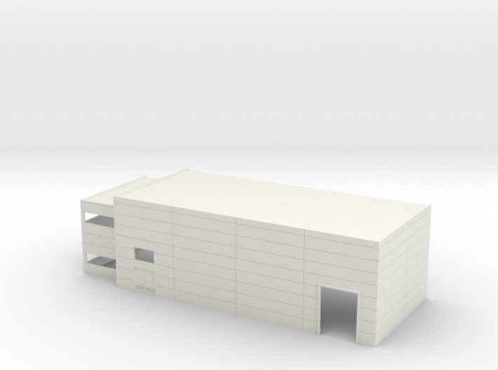 N Scale Industrial Building W Office Mirrored 3d printed
