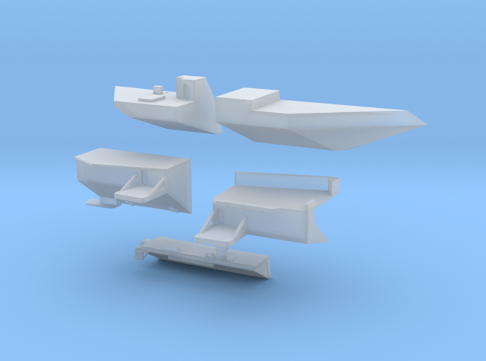 1:350 Scale USS Ronald Reagan 2006-2012 Update Set 3d printed