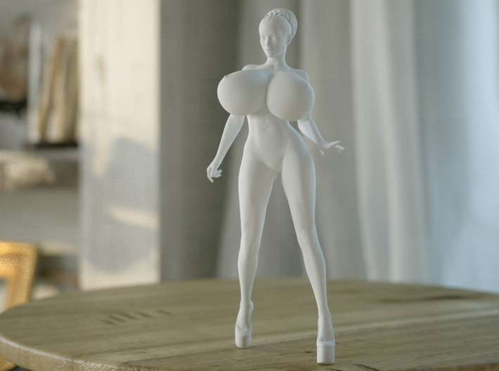 Crazy breast woman 003 3d printed