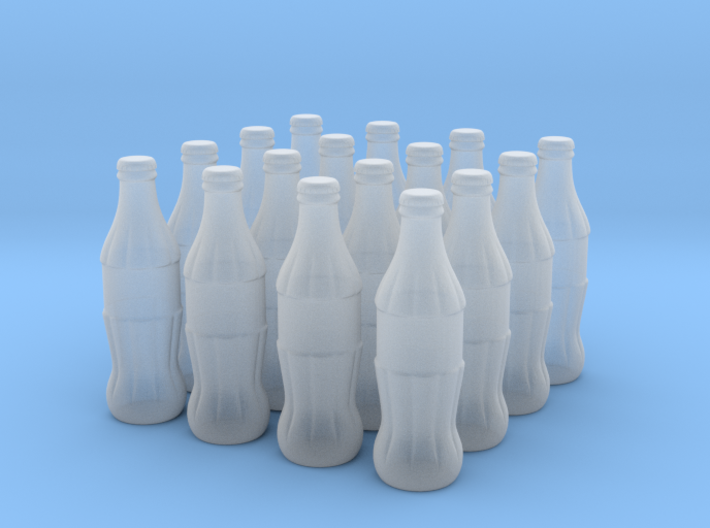 1/22 scale Cola bottles 3d printed