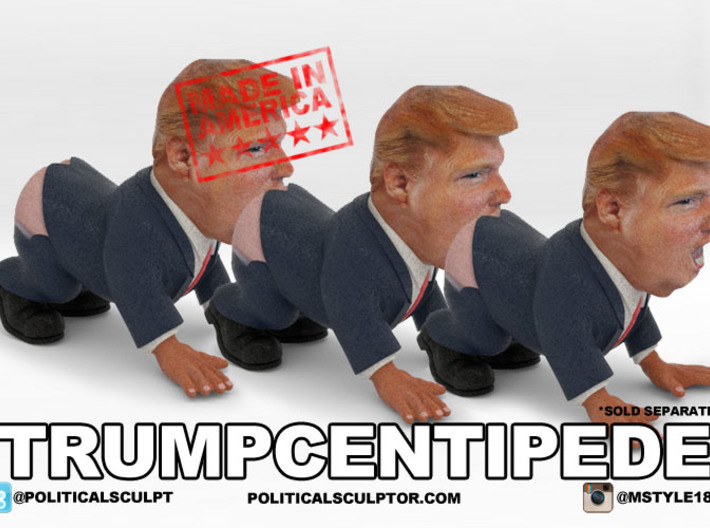 TrumpCentipede Large - The Trump Human Centipede 3d printed