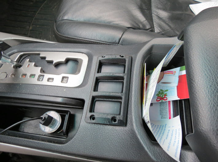 Toyota 4Runner Center Console Switch Guard 3d printed