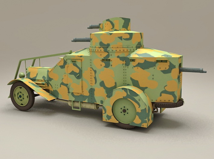 WW2 Armoured Recovery Vehicle 1:87 3d printed