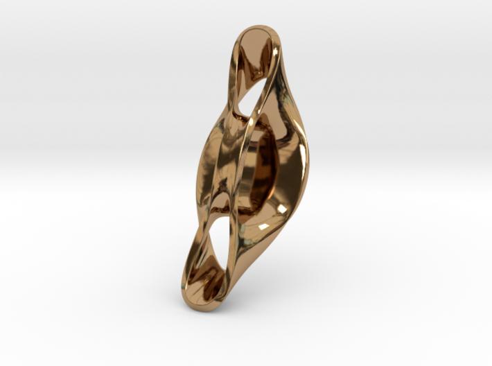 Triple Cube Brass 055 3d printed