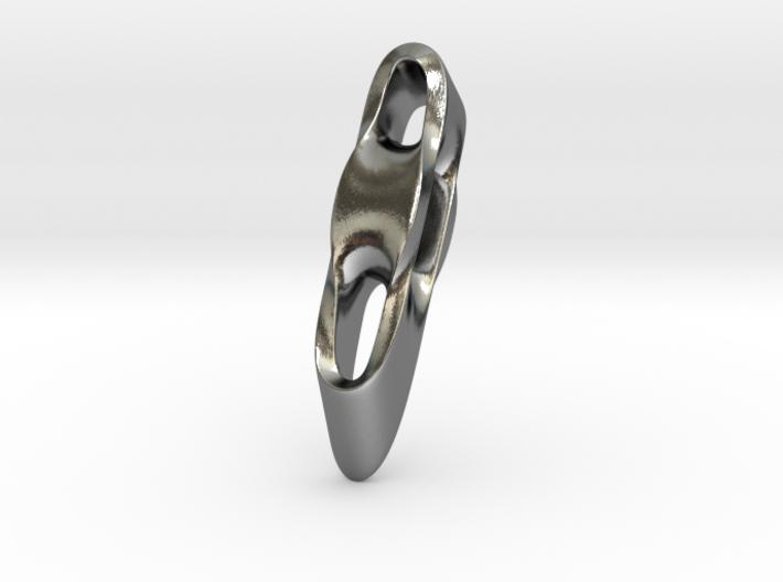 Triple Cube Silver 004 3d printed
