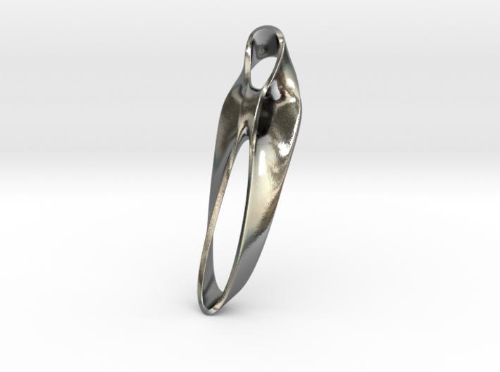 Triple Cube Silver 040 3d printed