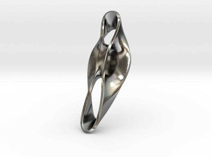 Triple Cube Silver 051 3d printed