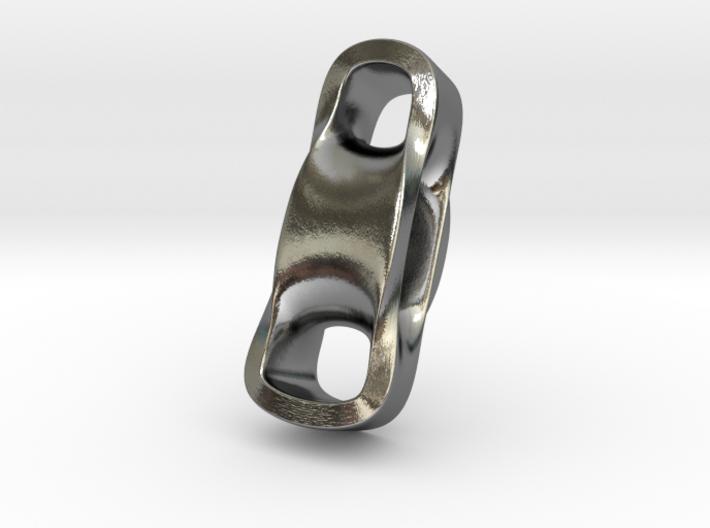 Triple Cube Silver 099 3d printed