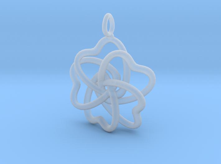 Heart Petals 5 Leaf Clover - 3.5cm - wLoopet 3d printed