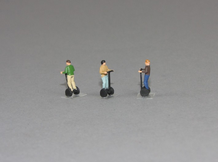 1:160 n scale 5 person on Segway 3d printed