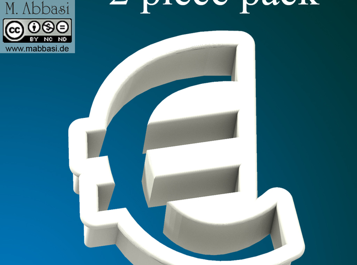 Cookie cutter (2 p.) - Euro Symbol 3d printed front