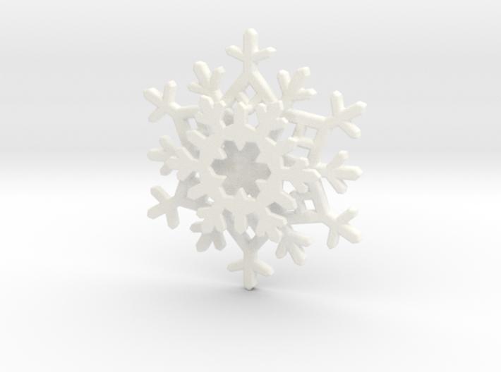 Layered Snowflake Pendant 3d printed