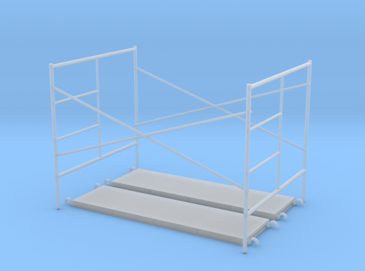 1:48 Step Frame Assembly 60x84x60 With Walkboards 3d printed