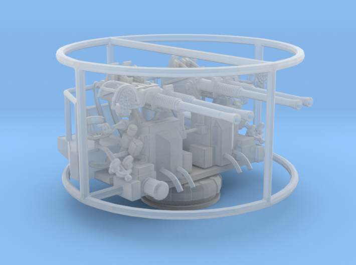 1/96 40mm Quad Bofors Mount 3d printed