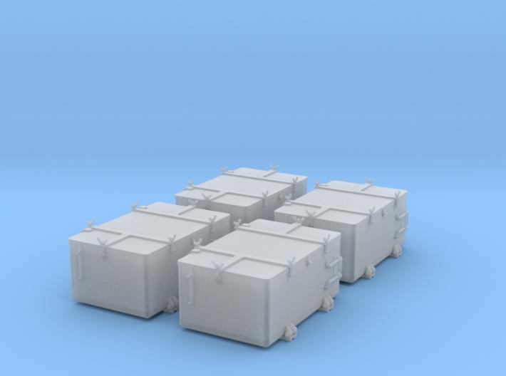1/48 IJN Ammo Box 25mm Double Set 4 Units 3d printed