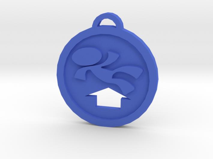 Psychonauts Levitation Badge Keychain 3d printed