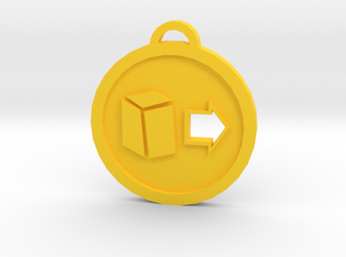 Psychonauts Telekinesis Badge Keychain 3d printed