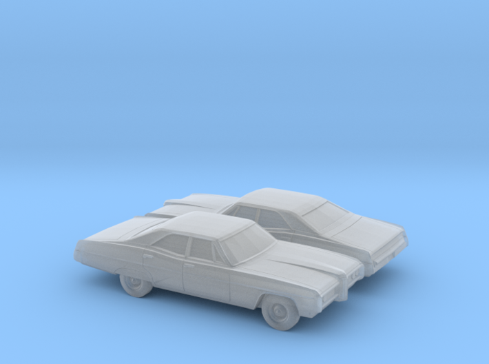 1/160 2X 1968 Pontiac Bonneville Sedan 3d printed