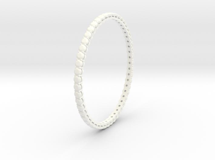 "Bangle simple ""diamonds"" 4 3d printed"