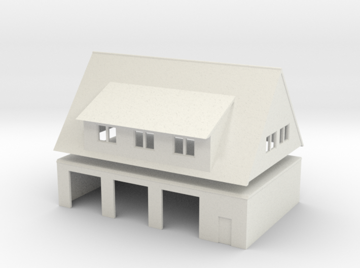 Feuerwache / Fire station (1:220) 3d printed