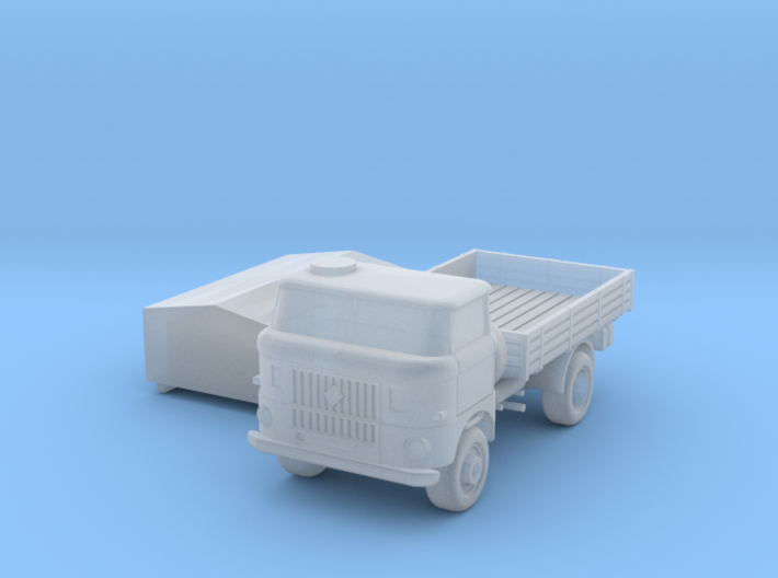 W50 Pritsche&Plane / flat bed & canvas (N, 1:160) 3d printed