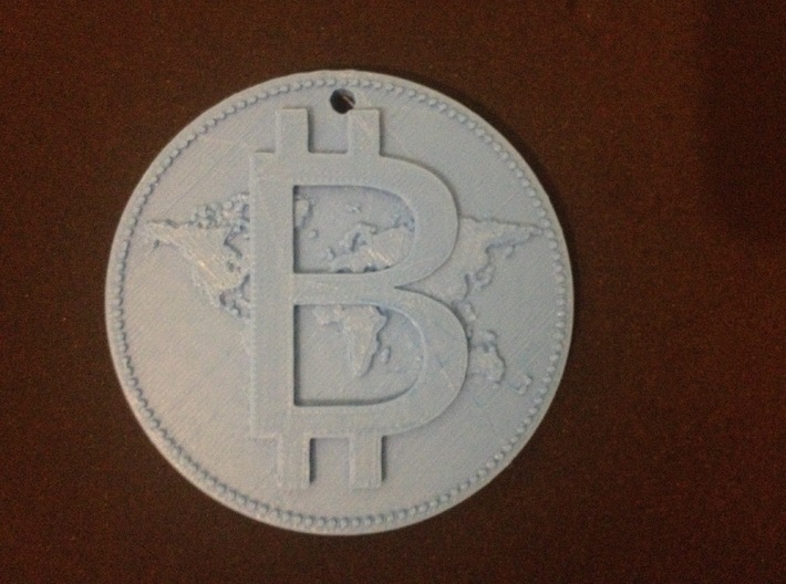 World Bitcoin Medal 3d printed PLA PROTOTYPE