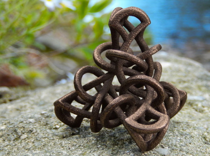 Tetrahedral Tangle 3d printed