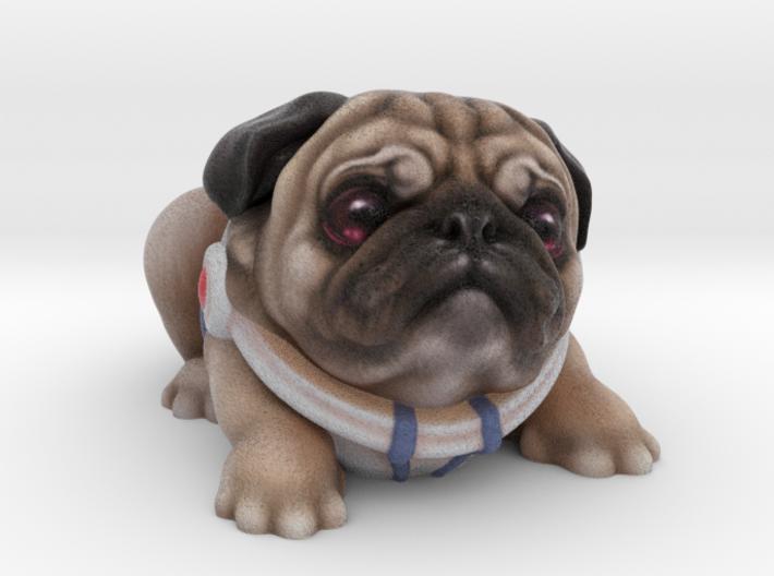Alien Puggy 3d printed Full Color Sandstone