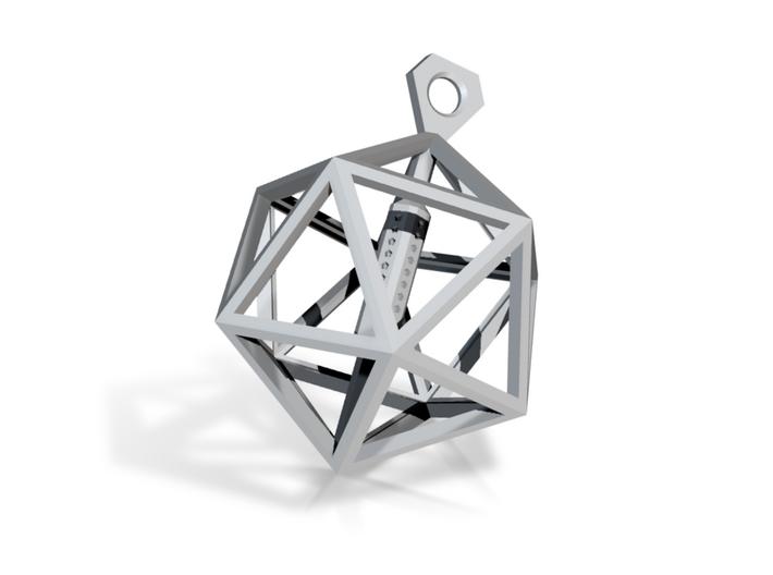 Architectural Icosahedron Pendant 3d printed
