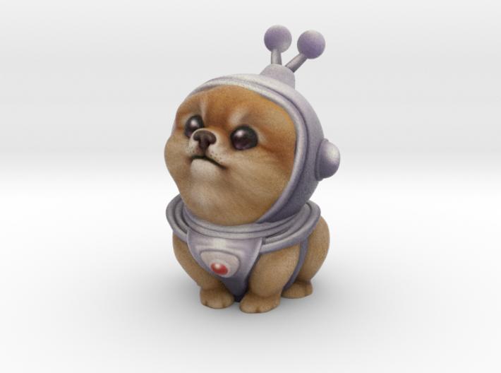 Alien Pomeranian 3d printed Full Color Sandstone