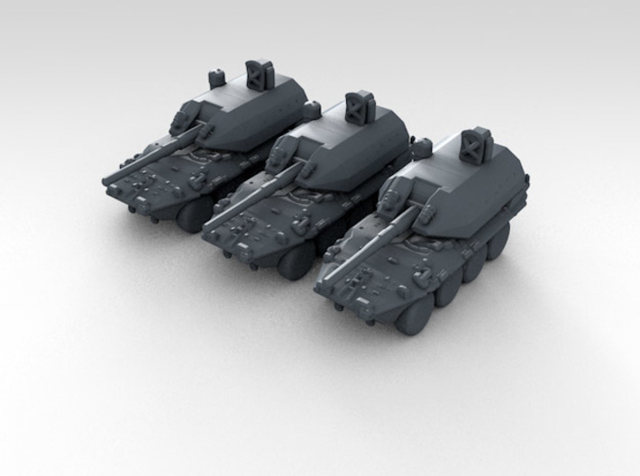 1:285 Scale Italian B1 Draco X3 3d printed 3d render showing product detail
