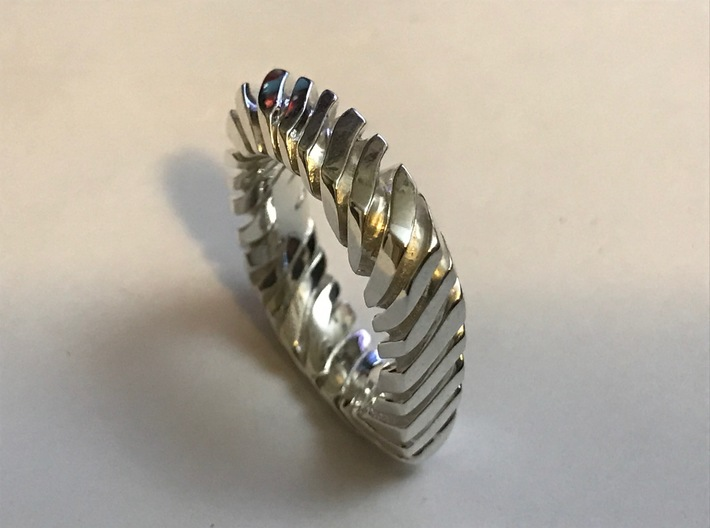PILLOW CARVED TIGER RING  3d printed