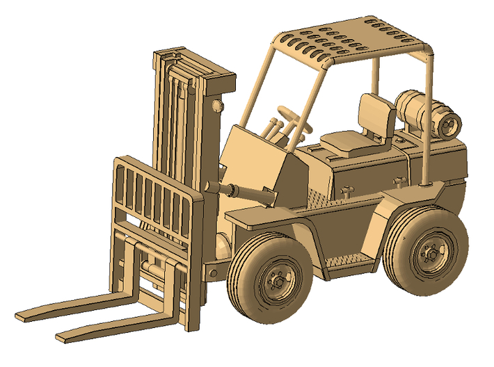 1/50th Hyster type Forklift 3d printed