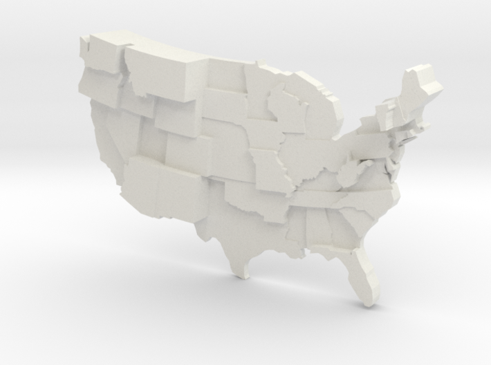 USA by UFO Sightings 3d printed