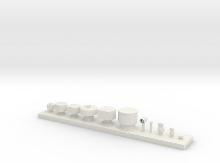 1/48 IJN Vent Set  3d printed