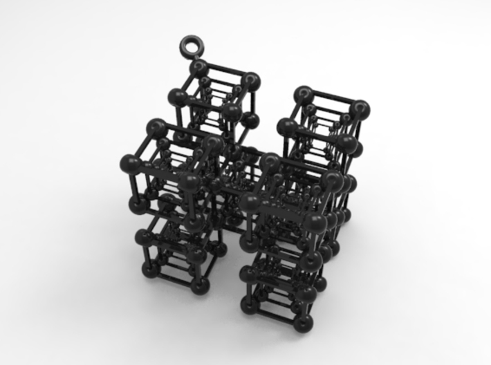 Untouchable Cubes * 5 Formation 3d printed