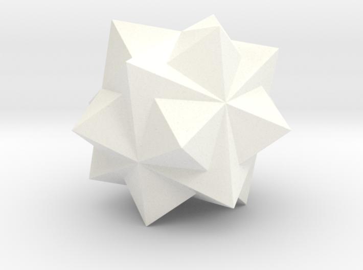 THREE OCTAHEDRA COMPOUND 3d printed